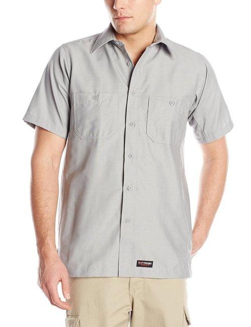 Men's Short Sleeve Work Shirt by Wrangler Workwear in Top Five