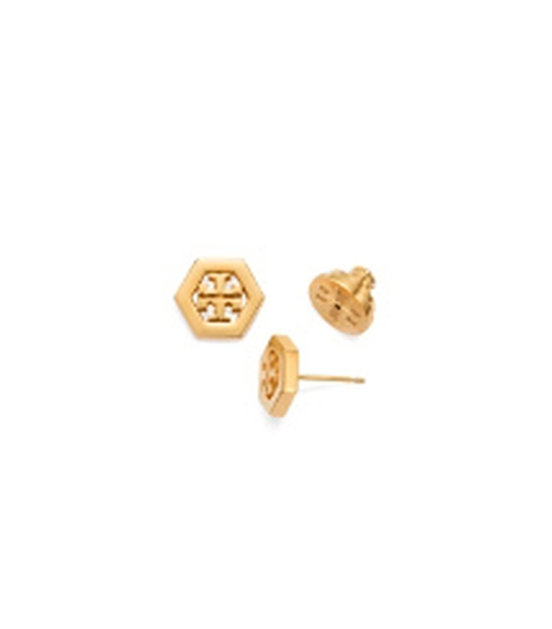 Large T Logo Stud Earrings by Tory Burch in Love the Coopers