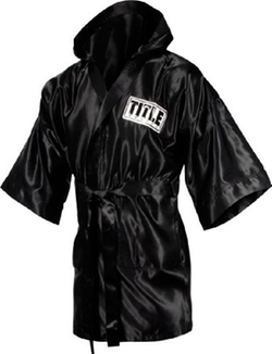 Full Length Stock Satin Robe by Title Boxing in Hands of Stone