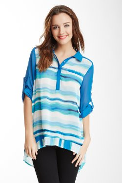 Stripe Blouse by Romeo & Juliet Couture in The Boy Next Door