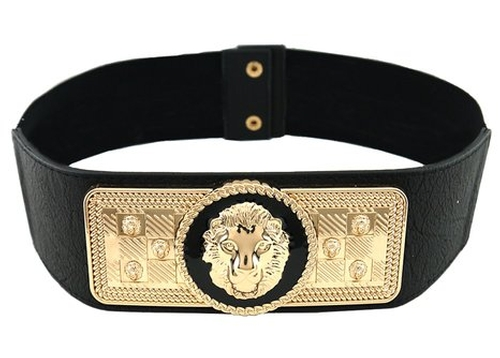 Lion Queen Of The Jungle Stretch Belt by Blingkicks in Sisters