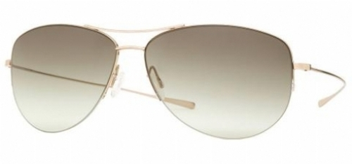 Strummer Gold Sunglasses by Oliver Peoples in Wanted