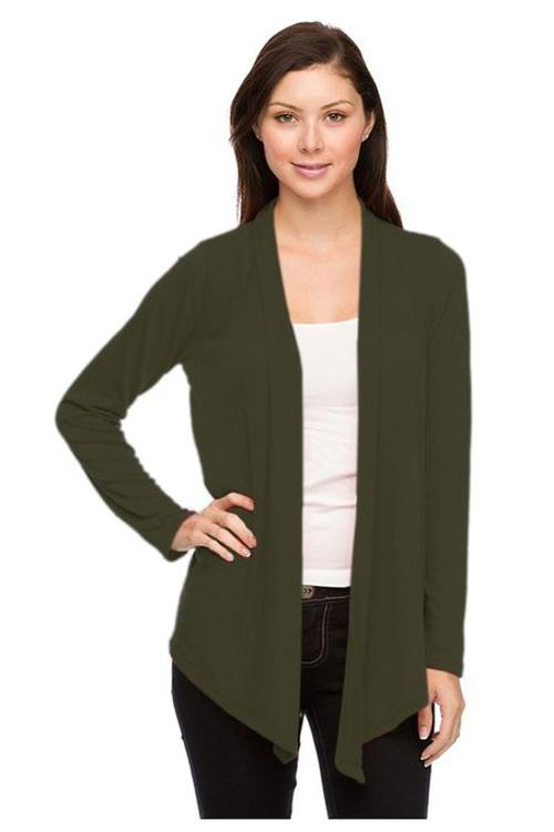 Women's Soft Knit Long Sleeve Open Cardigan by G2 Chic in St. Vincent