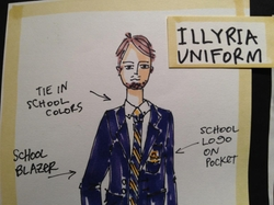 Custom-Made Illyria Uniform Blazer by Katia Stano (Costume Designer) in She's The Man
