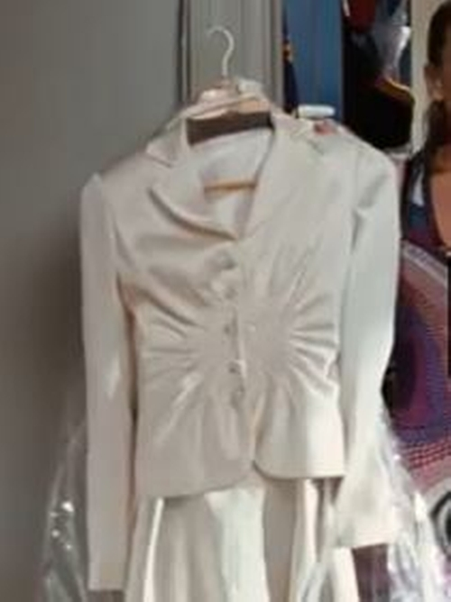 Selected By Patricia Field (Costume Designer) by Vintage White Blazer in Sex and the City