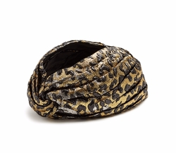 Leopard-Jacquard Turban by Gucci in Empire