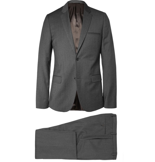 Cotton & Wool Blend Suit by Calvin Klein in Black Mass