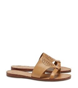 Perforated Logo Flat Slide Sandals by Tory Burch in The Second Best Exotic Marigold Hotel