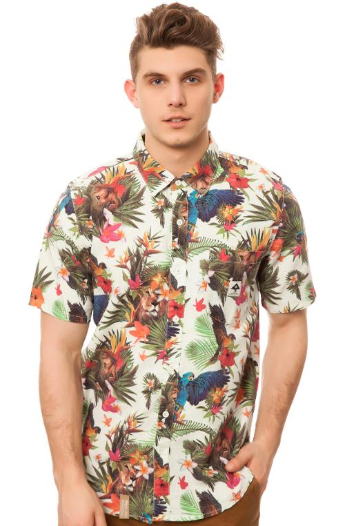 The Hawaiian Safari SS Buttondown Shirt by LRG in Savages