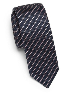 Diagonal Stripe Silk Tie by Hugo Boss in Suits