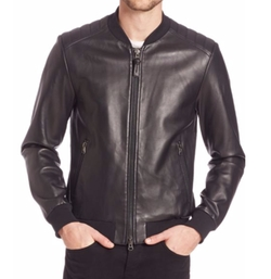 Graham Leather Jacket by Mackage in Allied