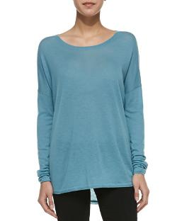 Lightweight Long-Sleeve Crew Top by Vince in New Year's Eve