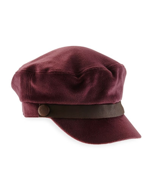 Luxe Leather-Trim Cap by Hat Attack in Love the Coopers