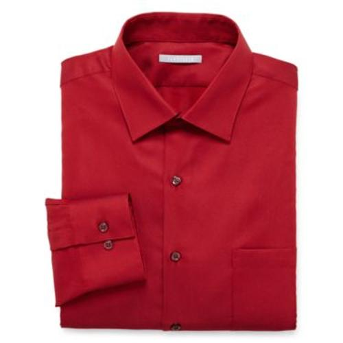 Fitted Piqué Dress Shirt by Van Heusen in Pain & Gain