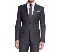 G-Line New Basic Sharkskin Two-Piece Wool Suit by Armani Collezioni in Ballers