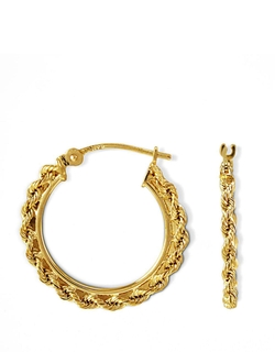 Small Braided Hoop Earrings by Lord & taylor in Burnt