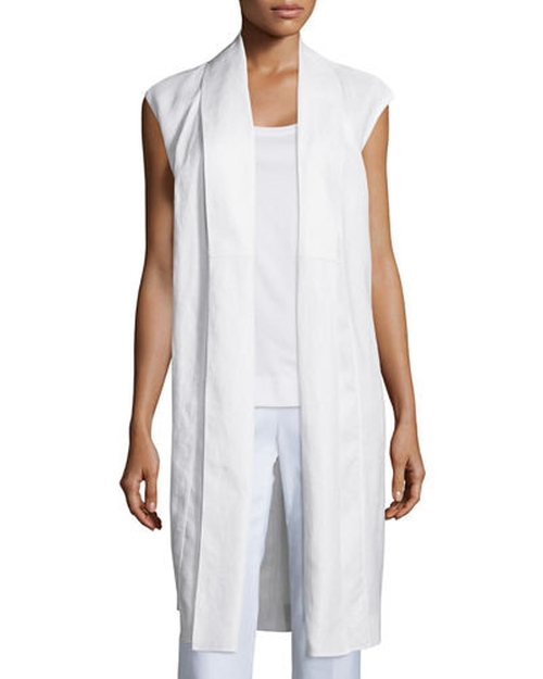 Zahra Linen Long Vest by Lafayette 148 New York in Keeping Up With The Kardashians - Season 11 Episode 10