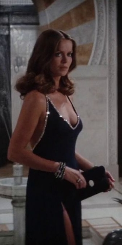 Custom Made Deep V Neckline Gown by Rosemary Burrows (Costume Designer) in The Spy Who Loved Me