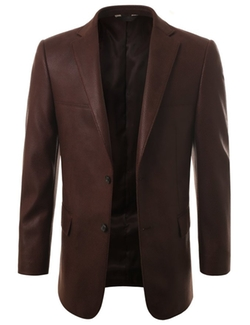 Leather Look Sport Coat by Mondaysuit in Special Correspondents
