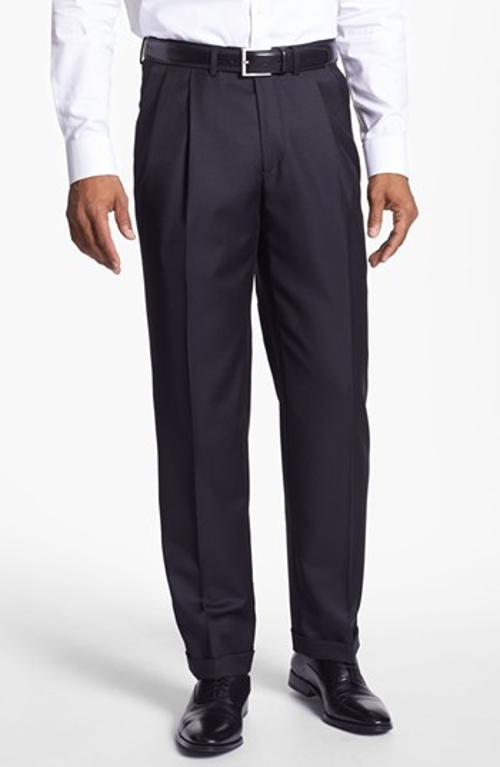 'Luxury Serge' Double Pleated Trousers by Santorelli in Entourage