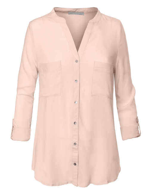 Loose Button Down Shirt Blouse by RubyK in Suits - Season 5 Episode 7
