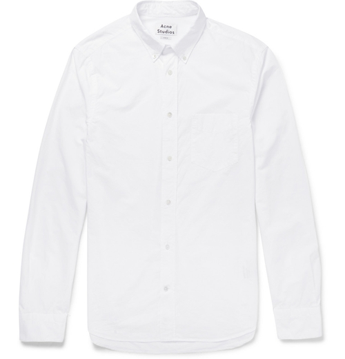 Isherwood Button-Down Collar Cotton-Poplin Shirt by Acne Studios in Life