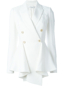 Asymmetrical Peplum Blazer by Givenchy in Empire