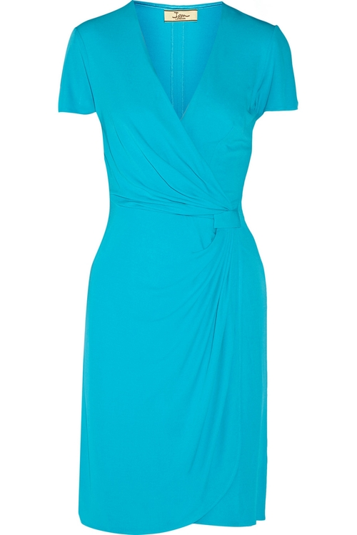 Wrap-Effect Jersey Dress by Issa in Bridesmaids