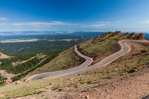 Pikes Peak Highway El Paso Country, Colorado in Furious 7