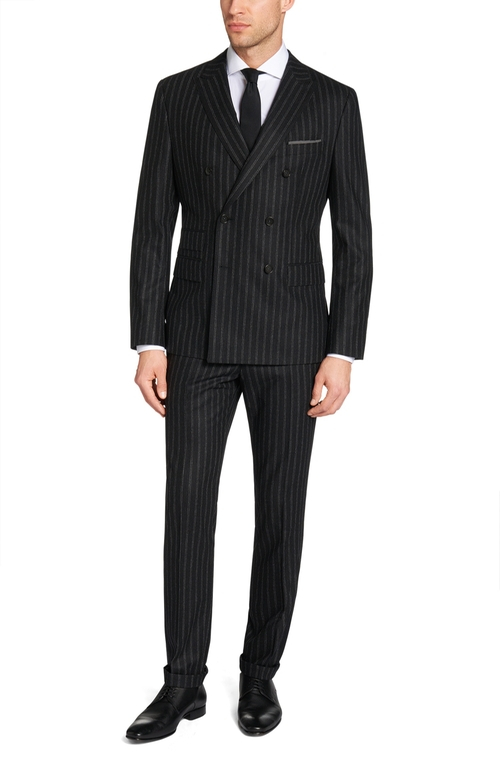 Nando/Bill Italian Virgin Wool Suit by Hugo Boss in Billions - Season 1 Episode 4