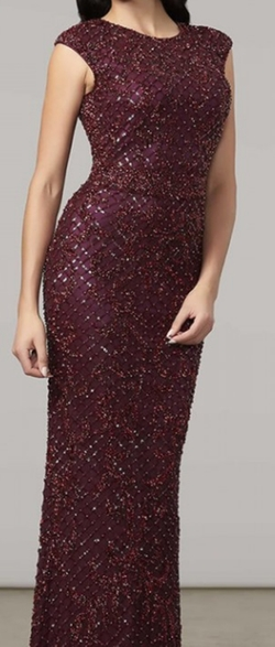 Burgundy Gown (Modified) by Mac Duggal in The Bachelorette