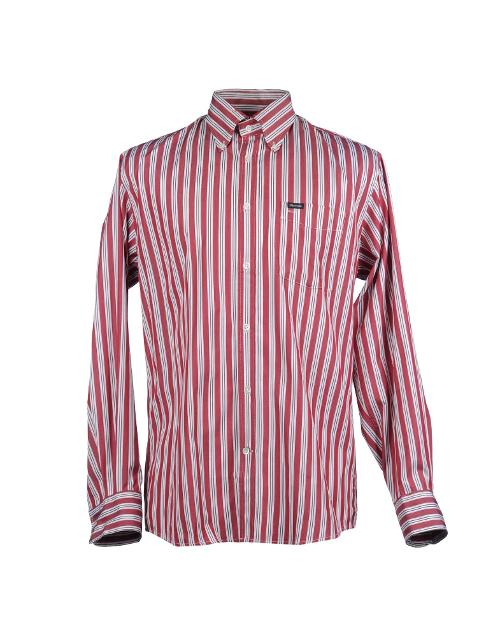 Red and White Stripe Dress Shirt by Façonnable in Get On Up