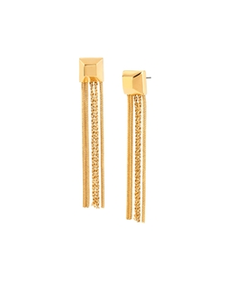 Cube Chain-Tassel Drop Earrings by Diane Von Furstenberg in Jem and the Holograms