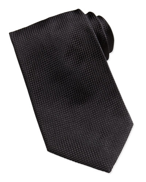Solid Textured Silk Tie by Giorgio Armani in Entourage