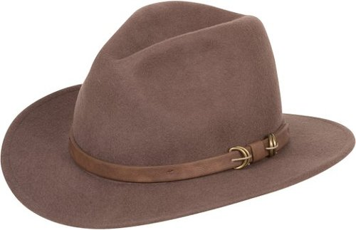 Western Style Wide Brim Wool Fedora Hat by Sakkas in Hot Pursuit