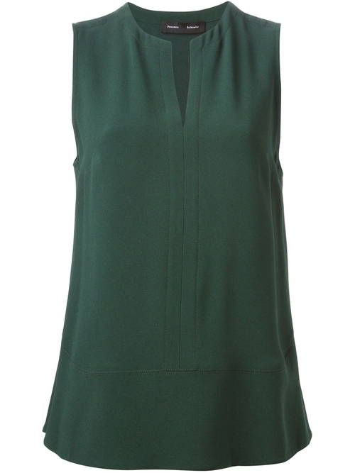 Flared Crepe Tank Top by Proenza Schouler in The Good Wife