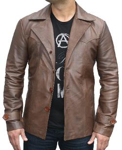 70s Style Jacket by Leather Next in Anchorman 2: The Legend Continues