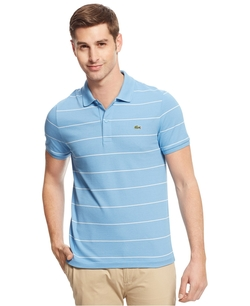 Stretch-Fit Striped Polo Shirt by Lacoste in Hall Pass