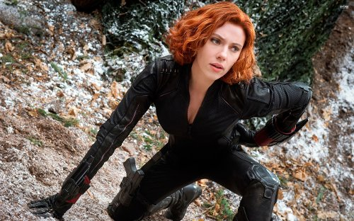 Custom Made Black Widow Costume by Alexandra Byrne (Costume Designer) in Avengers: Age of Ultron