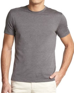 Silk & Cotton Crewneck Tee by Isaia in Knock Knock
