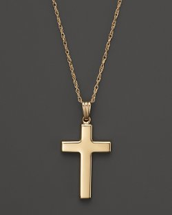 Gold Polished Cross Necklace by Bloomingdale in American Sniper