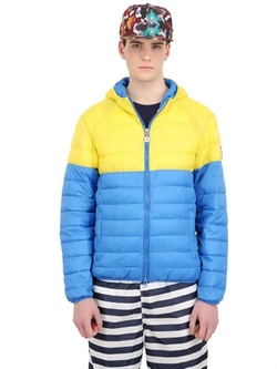 Light Nylon Puffer Jacket by Invicta in Eddie The Eagle