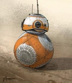 BB-8 Droid by Christian Alzmann (Concept Artist) in Star Wars: The Last Jedi