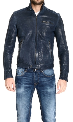 Biker Jacket In Garment-Washed Nappa Lambskin by Emporio Armani in Need for Speed