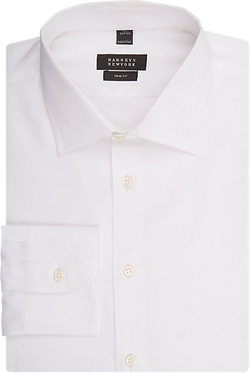 Solid Dress Shirt by Barneys New York in Legend