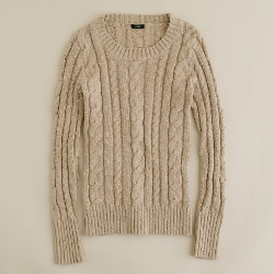Shrunken Fisherman Sweater by J.Crew in Warm Bodies