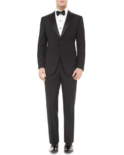 Peak-Lapel Single-Breasted Tuxedo by Giorgio Armani in Top Five