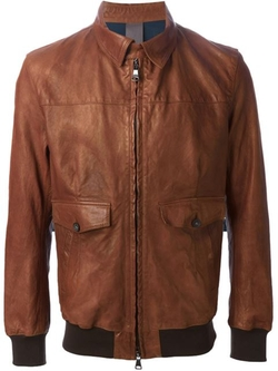 Leather Bomber Jacket by Orciani in American Horror Story
