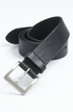 'Sportivo' Leather Belt by Trafalgar in Grease
