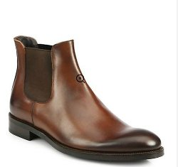 Welker Chelsea Leather Slip-On Boots by To Boot New York in Cinderella